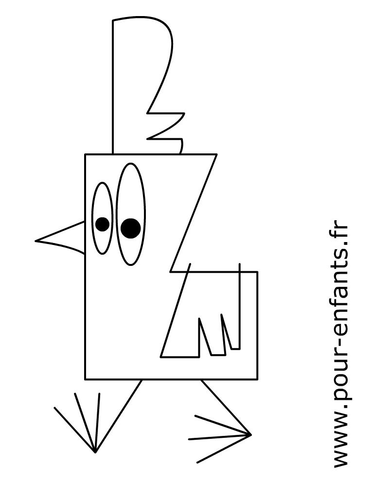 Comment dessiner une poule facilement