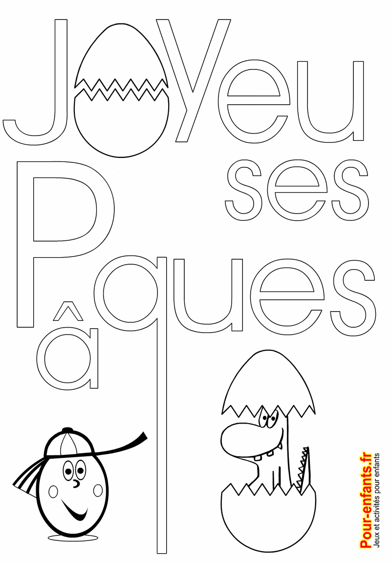 Coloriage De Paques Cycle 2.Texte Joyeuses Paques A Imprimer Coloriage De Paques Imprimable Pour