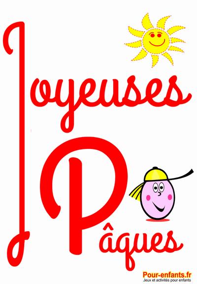 Joyeuses Pâques à imprimer dessins coloriages maternelle